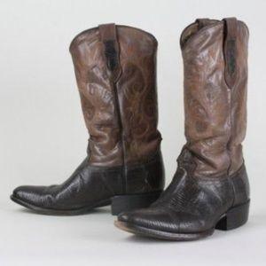Vintage Coyote Joe Brown Cowboy Boots